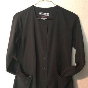 Greys Anatomy black fitted scrub jacket